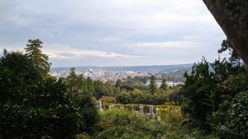 天覧山中段からの景色