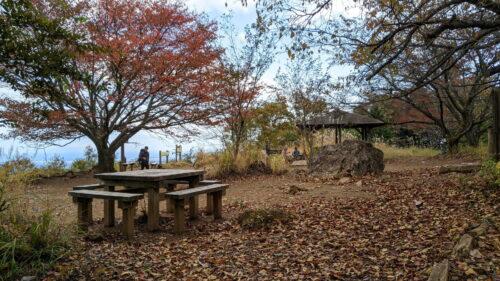 棒ノ折山山頂のベンチ