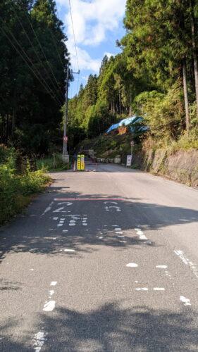 バス停脇の車道