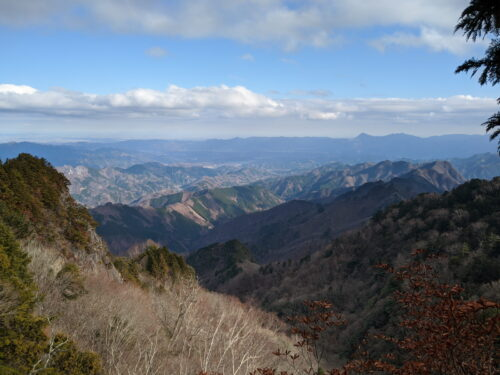 山頂手前の絶景